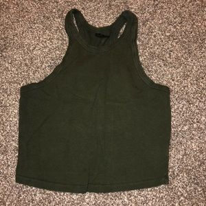 Olive Green Cropped Tank